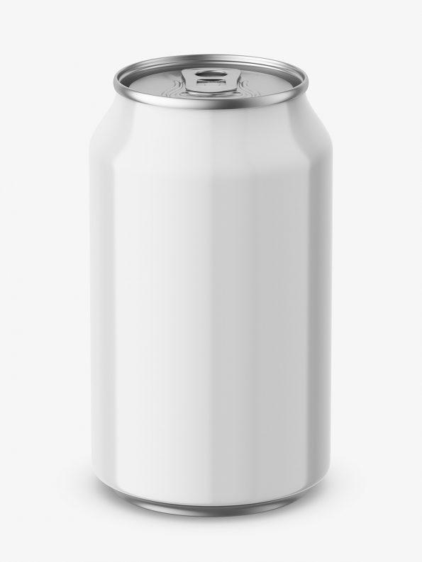 Glossy beer can mockup / 330 ml