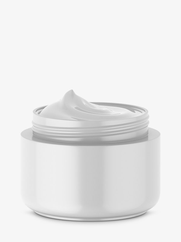 Cosmetic jar mockup / opened