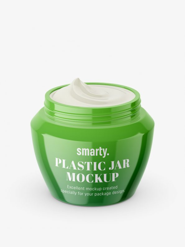 Beauty jar mockup / opened
