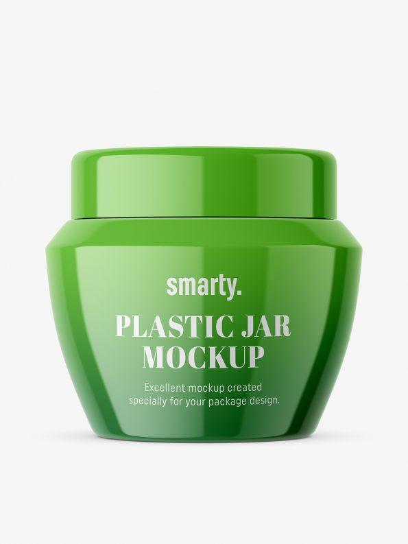 Beauty jar mockup