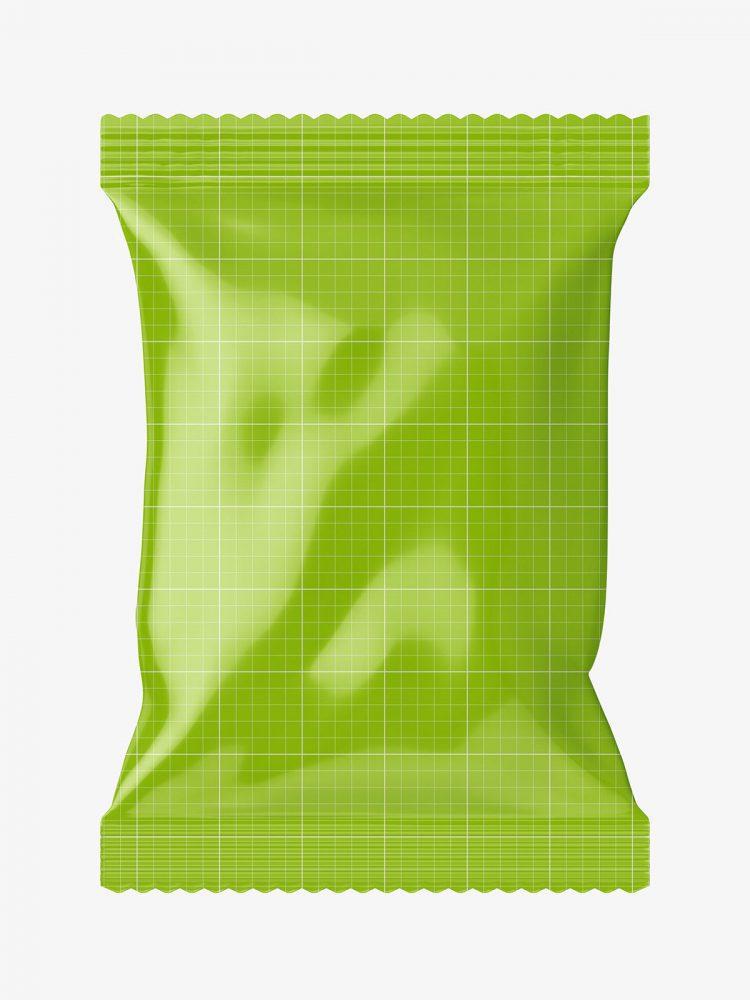 Glossy foil bag mockup