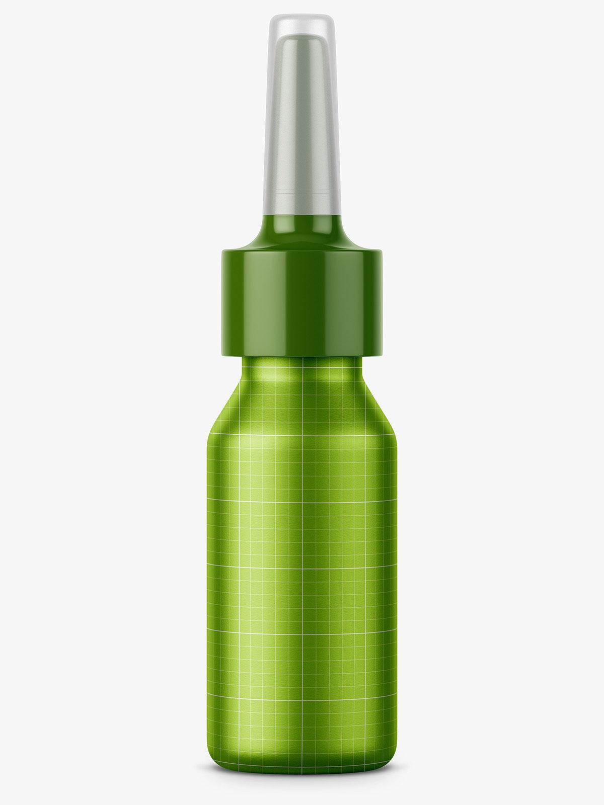Metal nasal bottle mockup