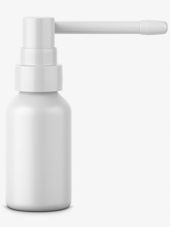 Throat spray bottle mockup
