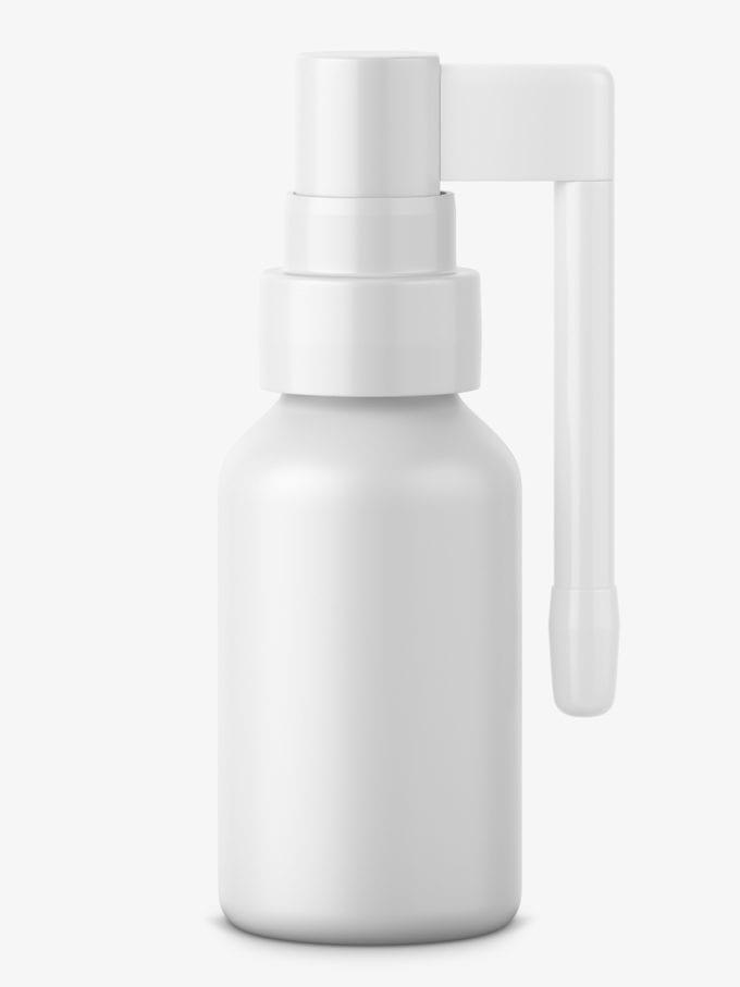 Throat spray bottle mockup
