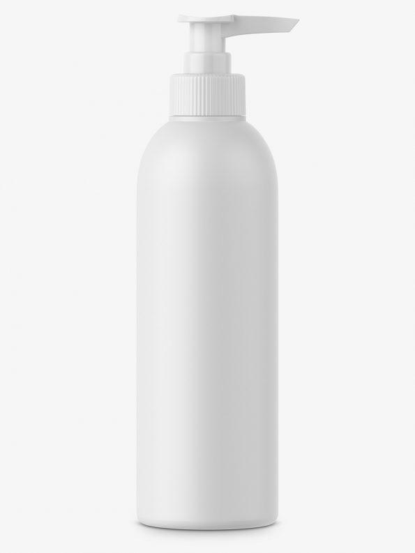 Matt plastic bottle with pump mockup