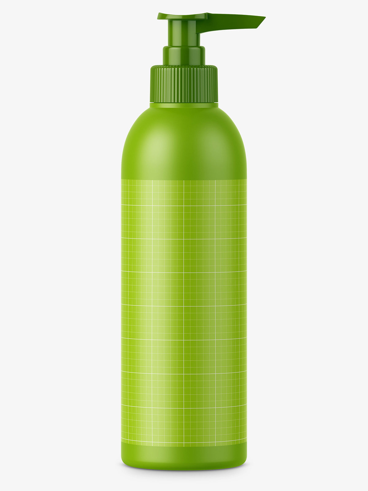Matt plastic bottle with pump mockup