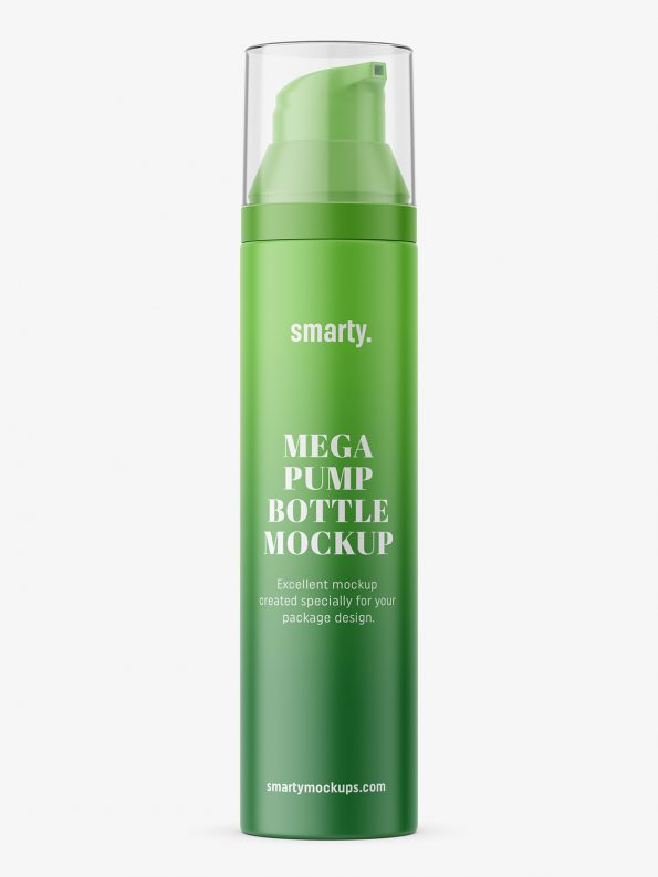 Matt bottle with metallic micro pump