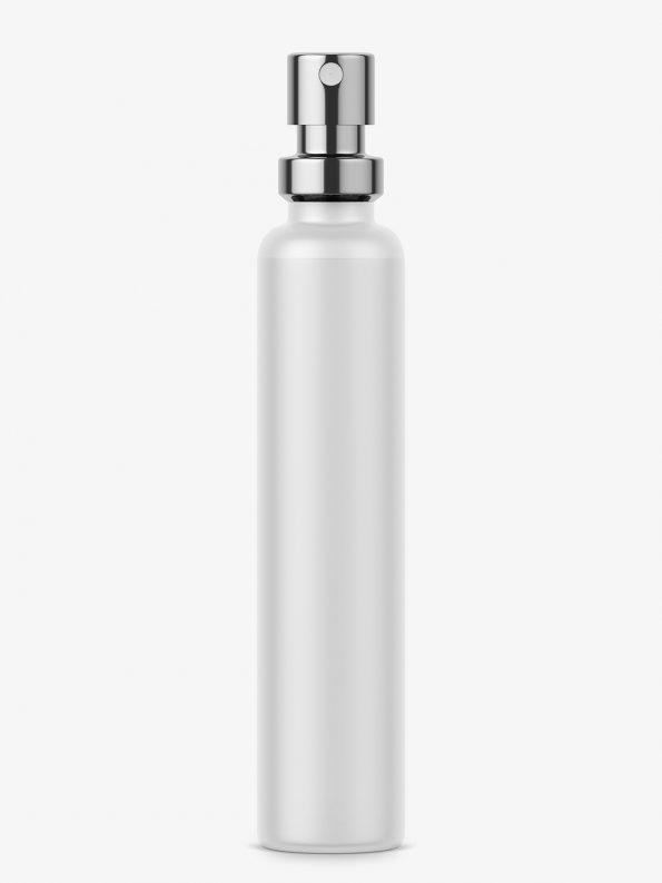 Matt perfume bottle sample mockup
