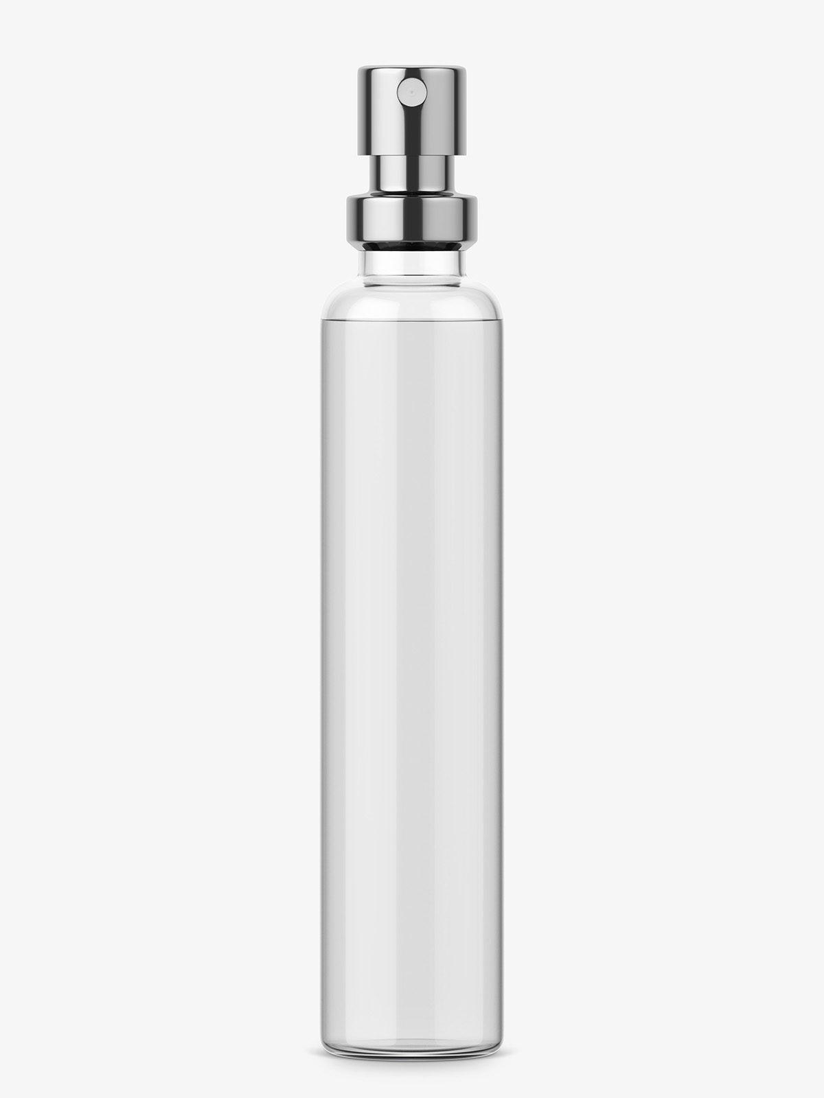 Perfume bottle sample mockup