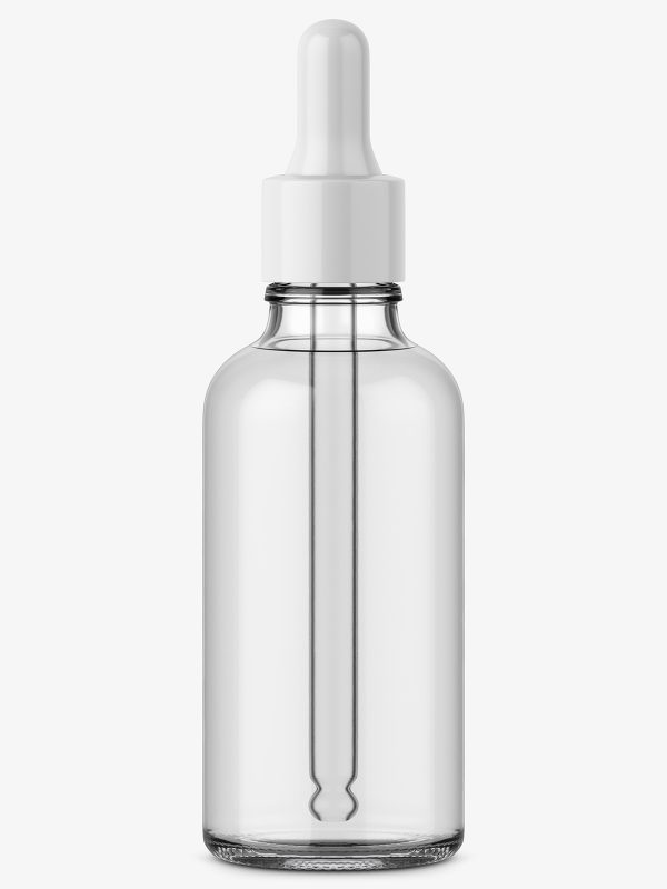Glass bottle with dropper / 50 ml