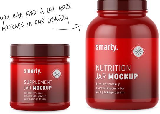 Some examples of Nutrition jars mockups