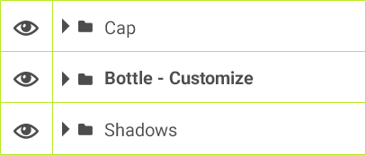 Cap / Bottle - Customize / Shadows