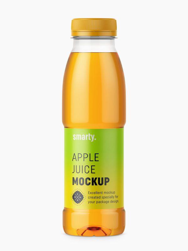 Apple juice bottle mockup