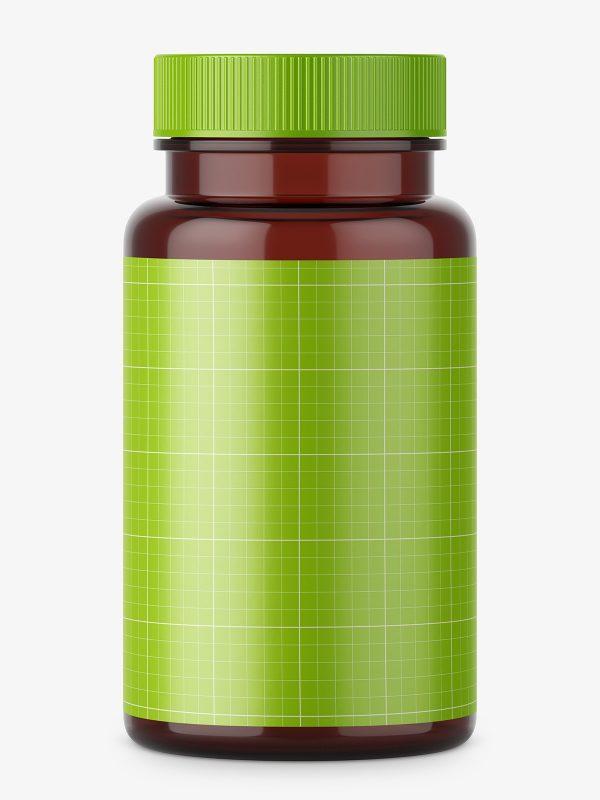Pharmacy brown jar with plastic cap