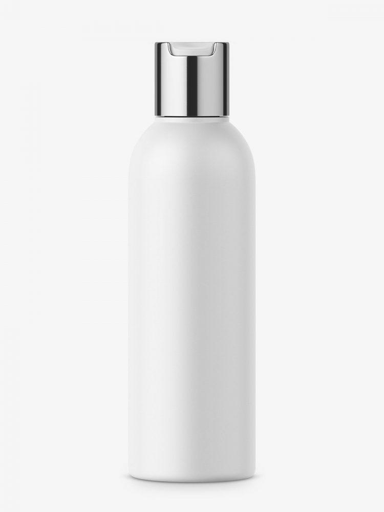 Matt bottle with chrome disc top