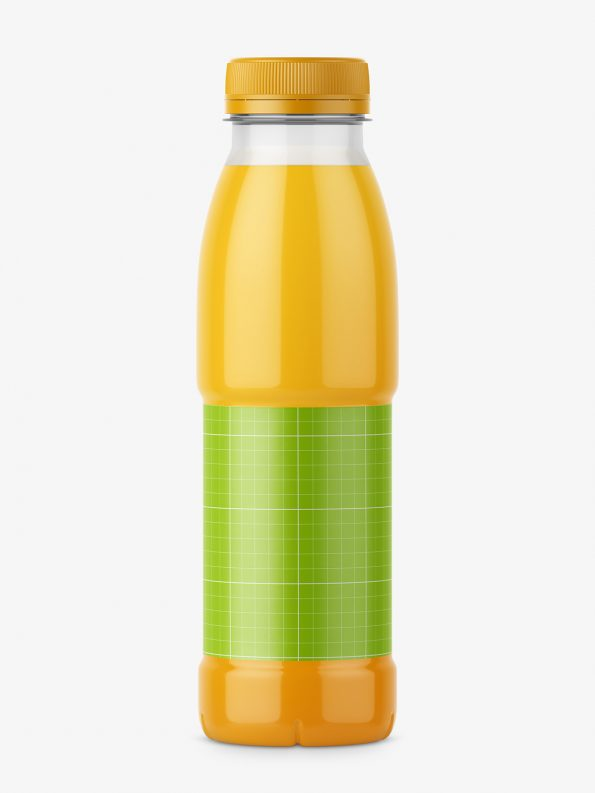 Orange juice bottle mockup
