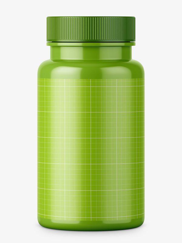 Pharmacy jar with plastic cap