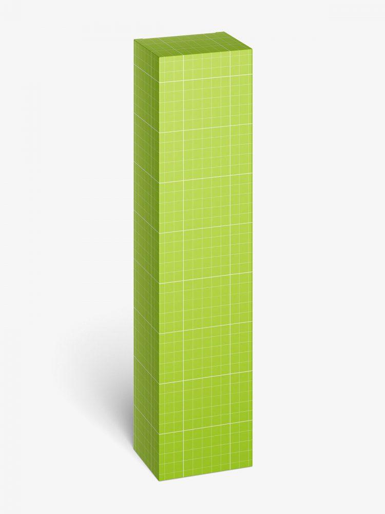 Toothpaste box mockup / 50x210x40