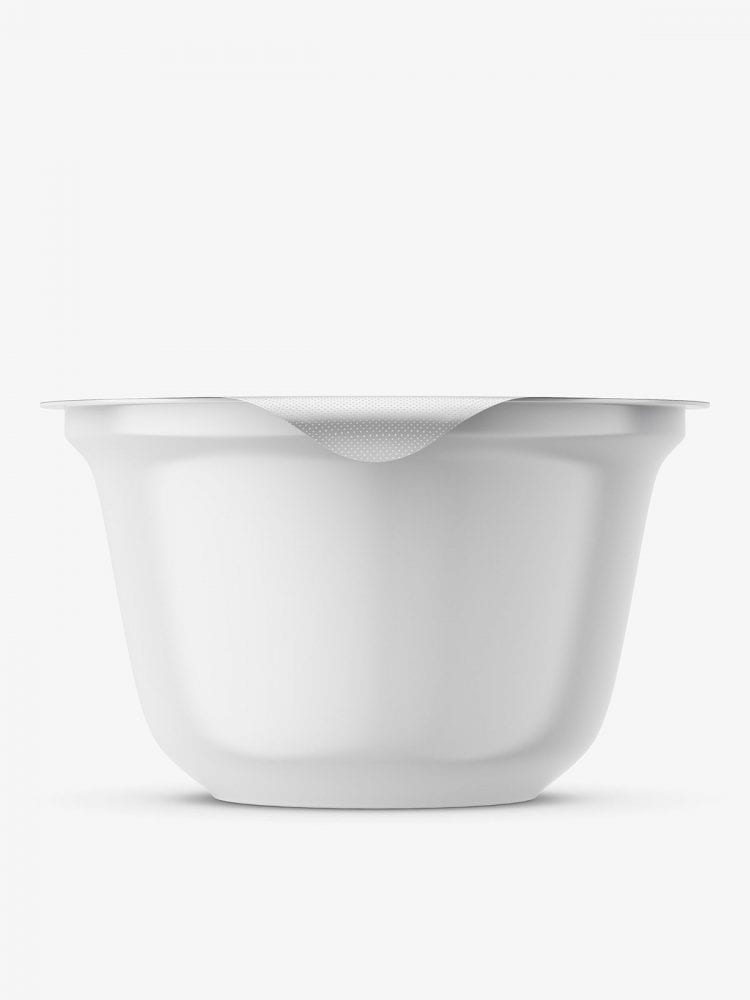Yogurt mockup container / front view