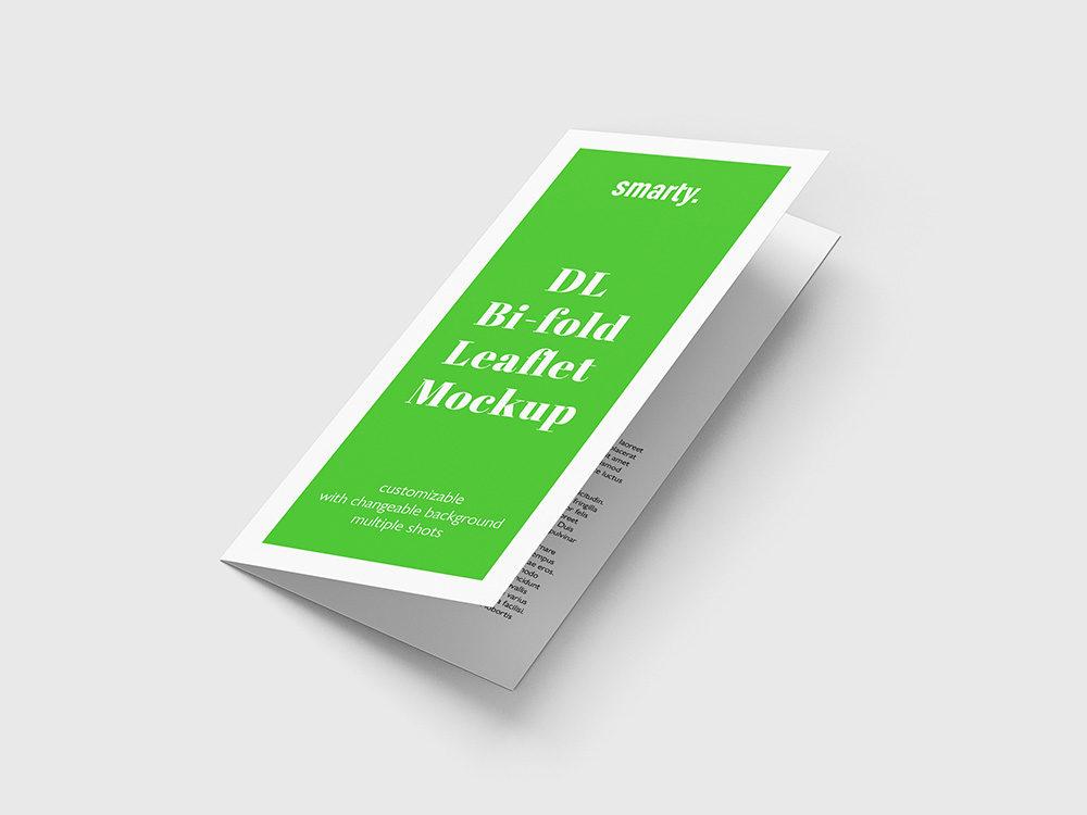 Bi Fold DL Leaflet mockup