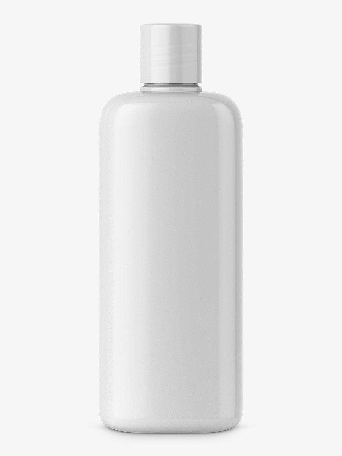 Glossy cosmetic bottle mockup