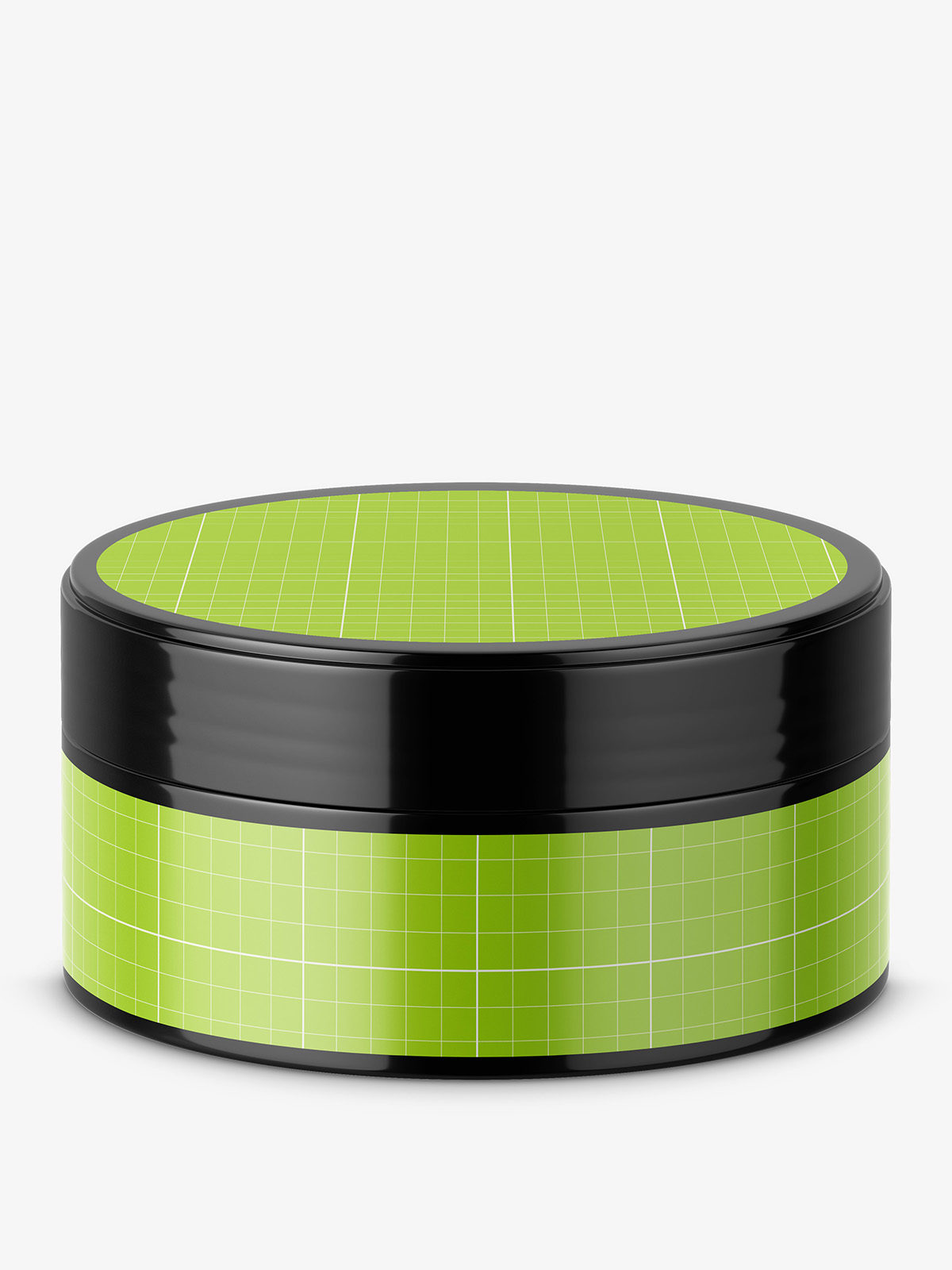 Short glossy jar mockup