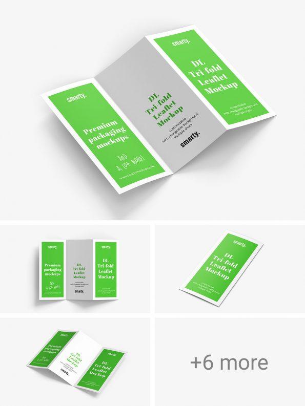 Tri Fold DL Leaflet mockup