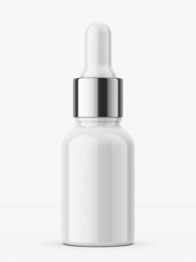 Plastic bottle with silver dropper / 10 ml