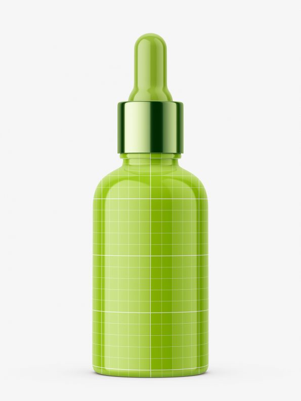 Plastic bottle with silver dropper / 50 ml