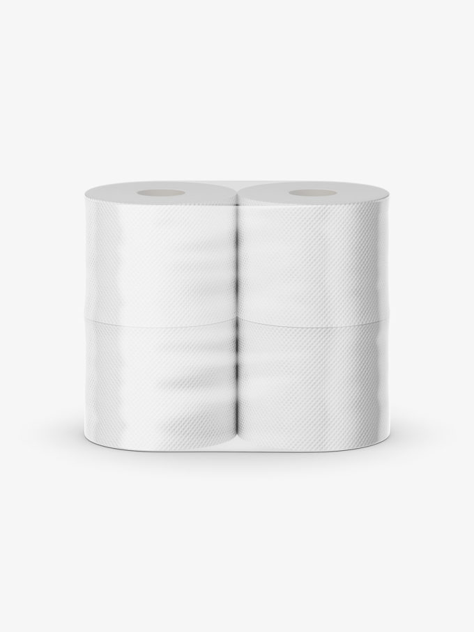 Toilet paper mockup