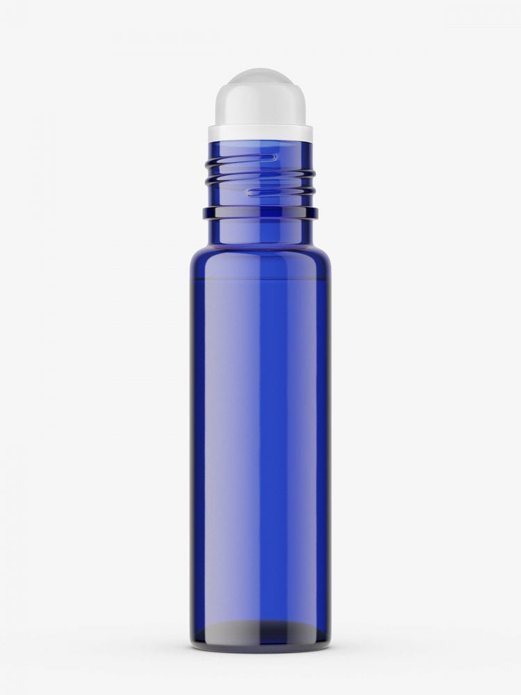 Small roll-on bottle mockup / blue