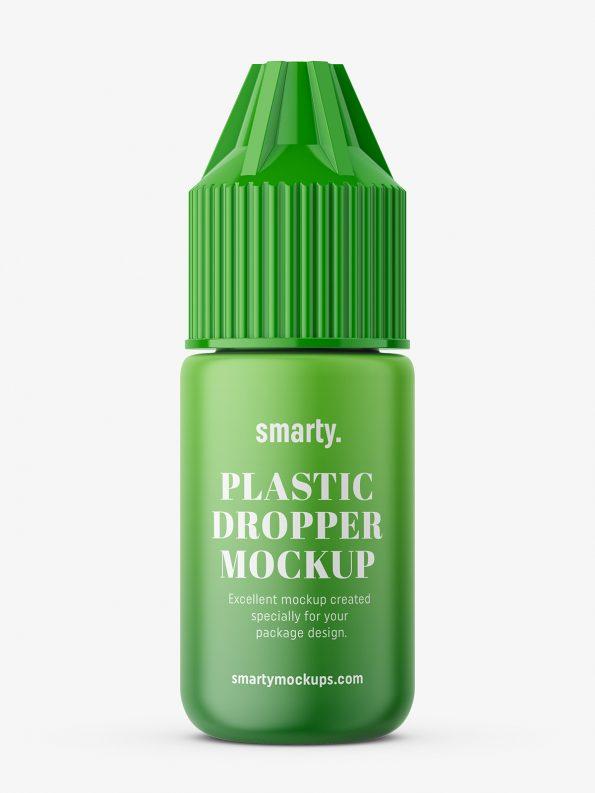 Dropper bottle mockup / matt