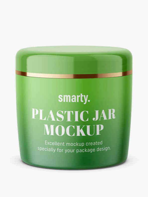 Cosmetic cream jar mockup / matt