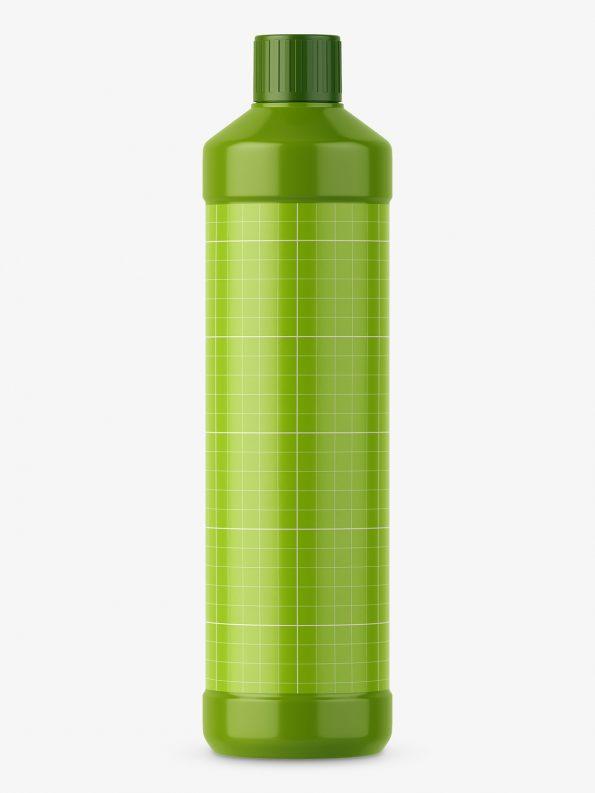 Plastic glossy bottle mockup