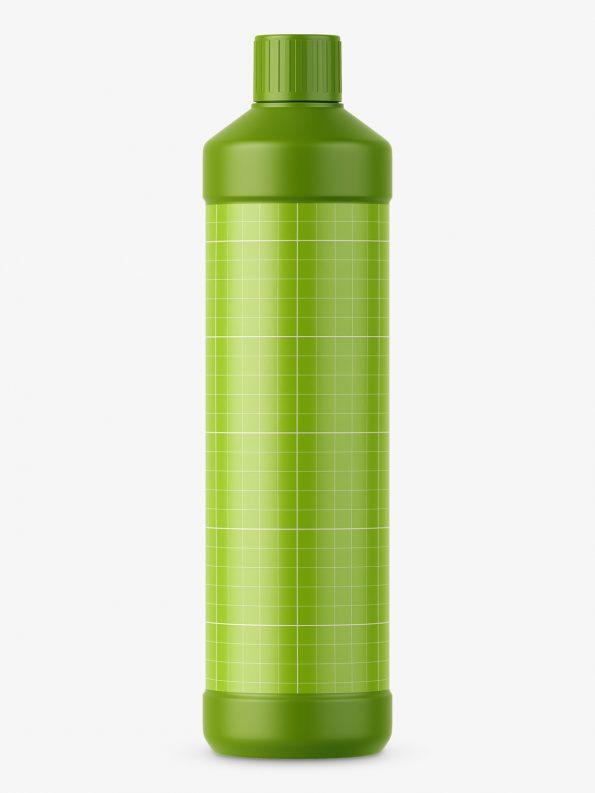 Plastic matt bottle mockup