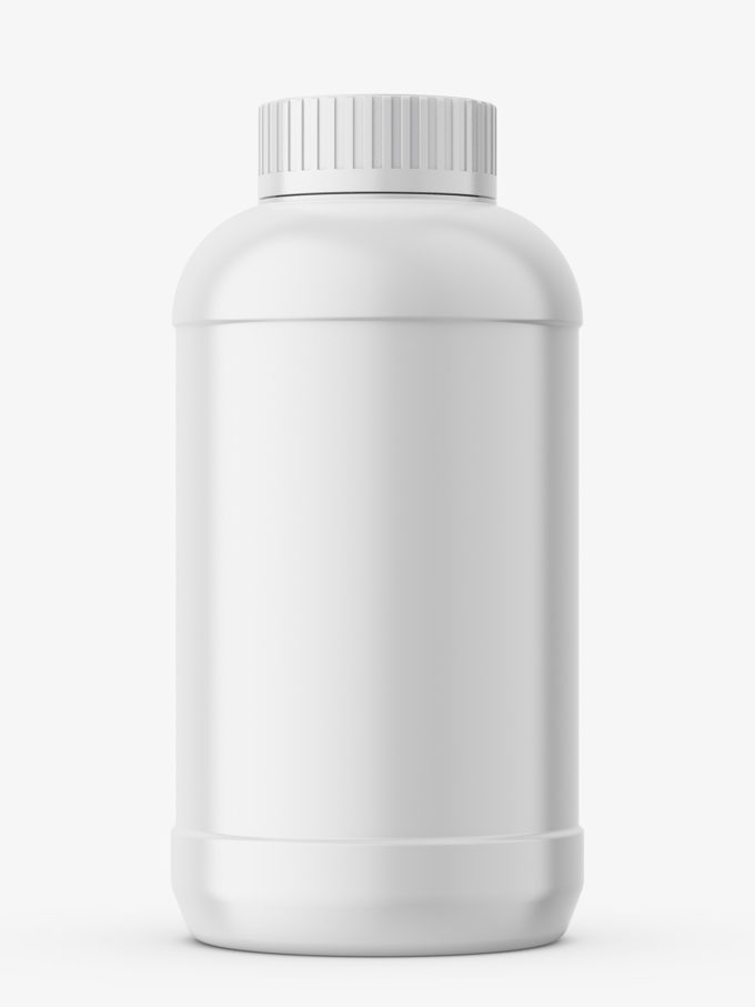 Powder bottle mockup
