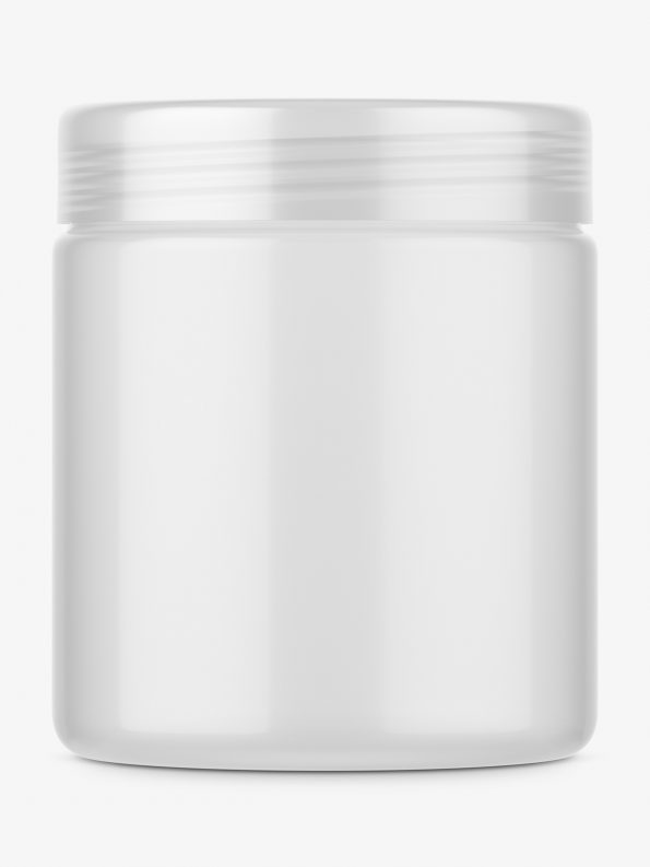 Semi transparent jar mockup