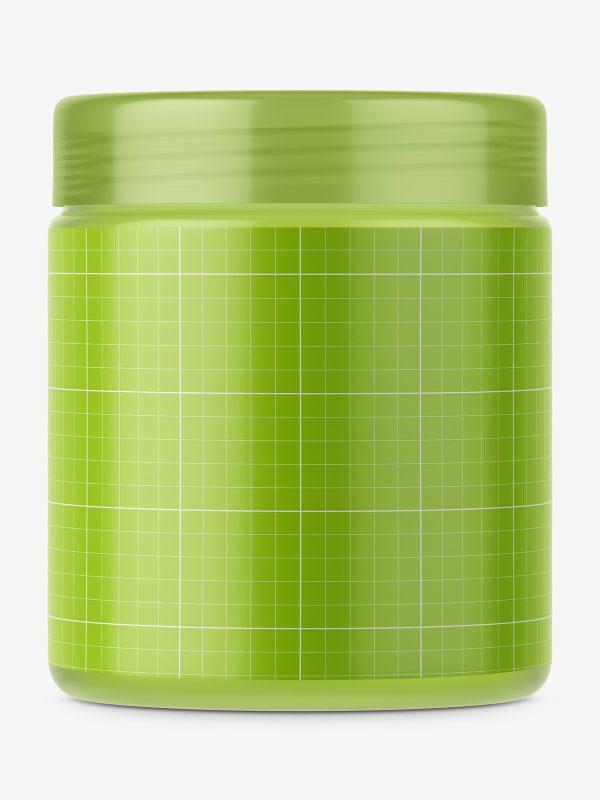 Semi transparent jar mockup