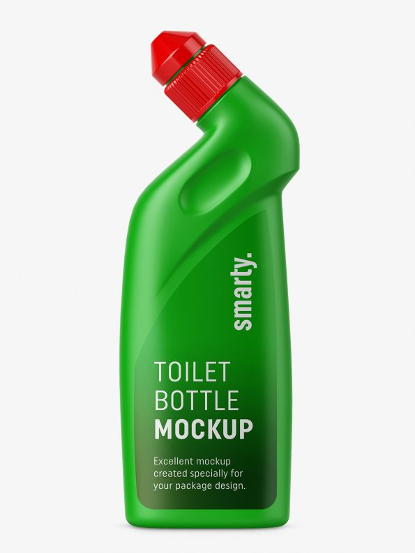 Toilet bottle mockup
