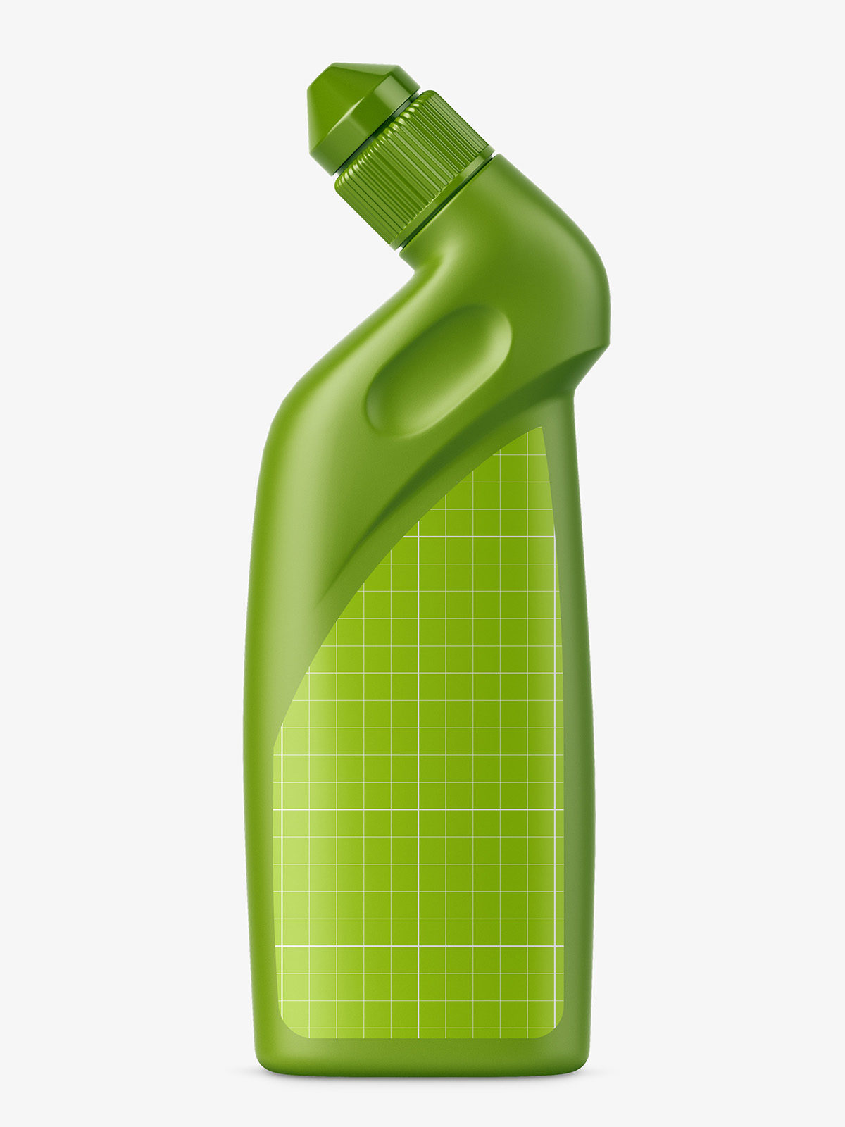 Toilet bottle mockup