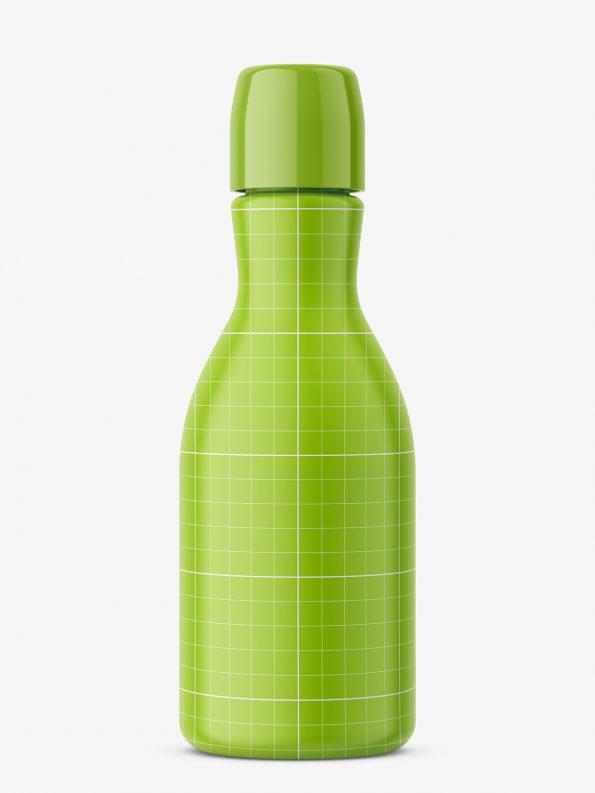 Narrow neck bottle mockup / amber