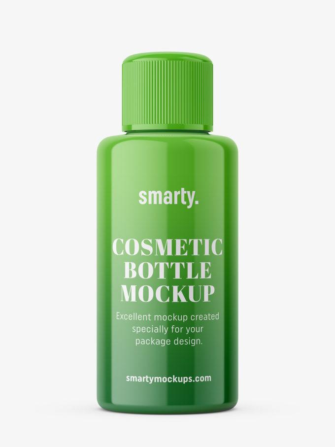 Simple bottle mockup / glossy