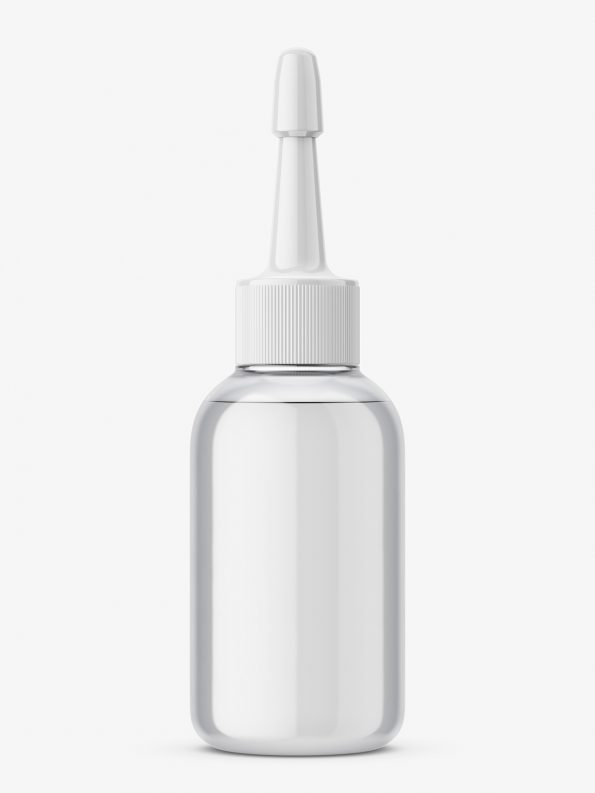 Transparent dropper bottle