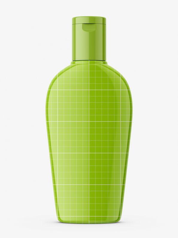 Glossy balsam bottle mockup