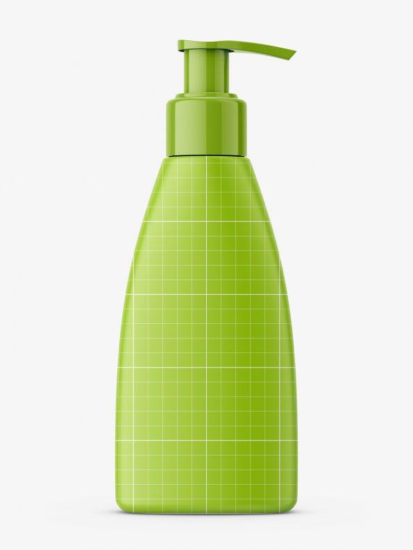 Triangle shaped bottle with pump / matt