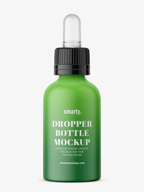 Plastic matt dropper bottle mockup
