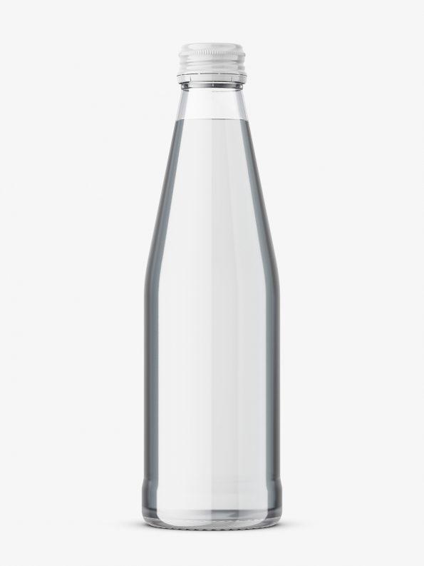 Glass Mineral water bottle mockup
