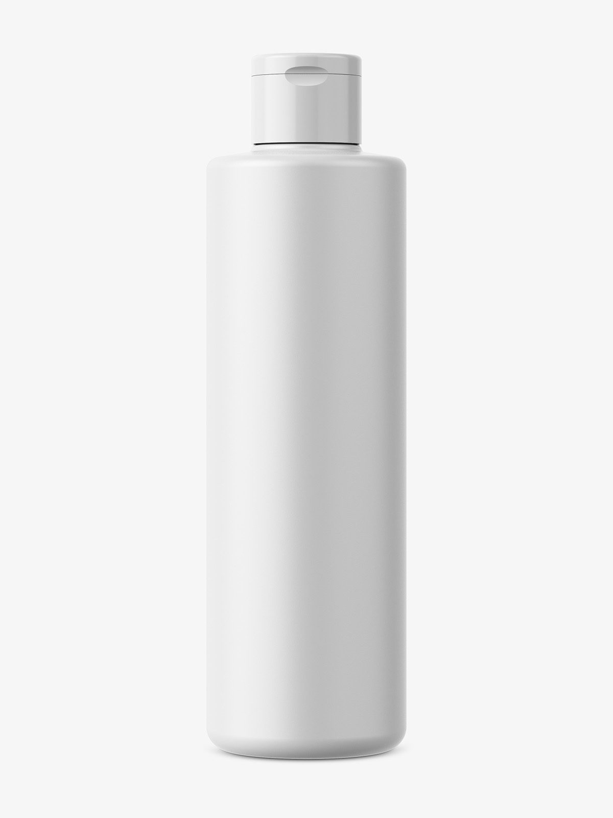 Simple round plastic bottle mockup / matt