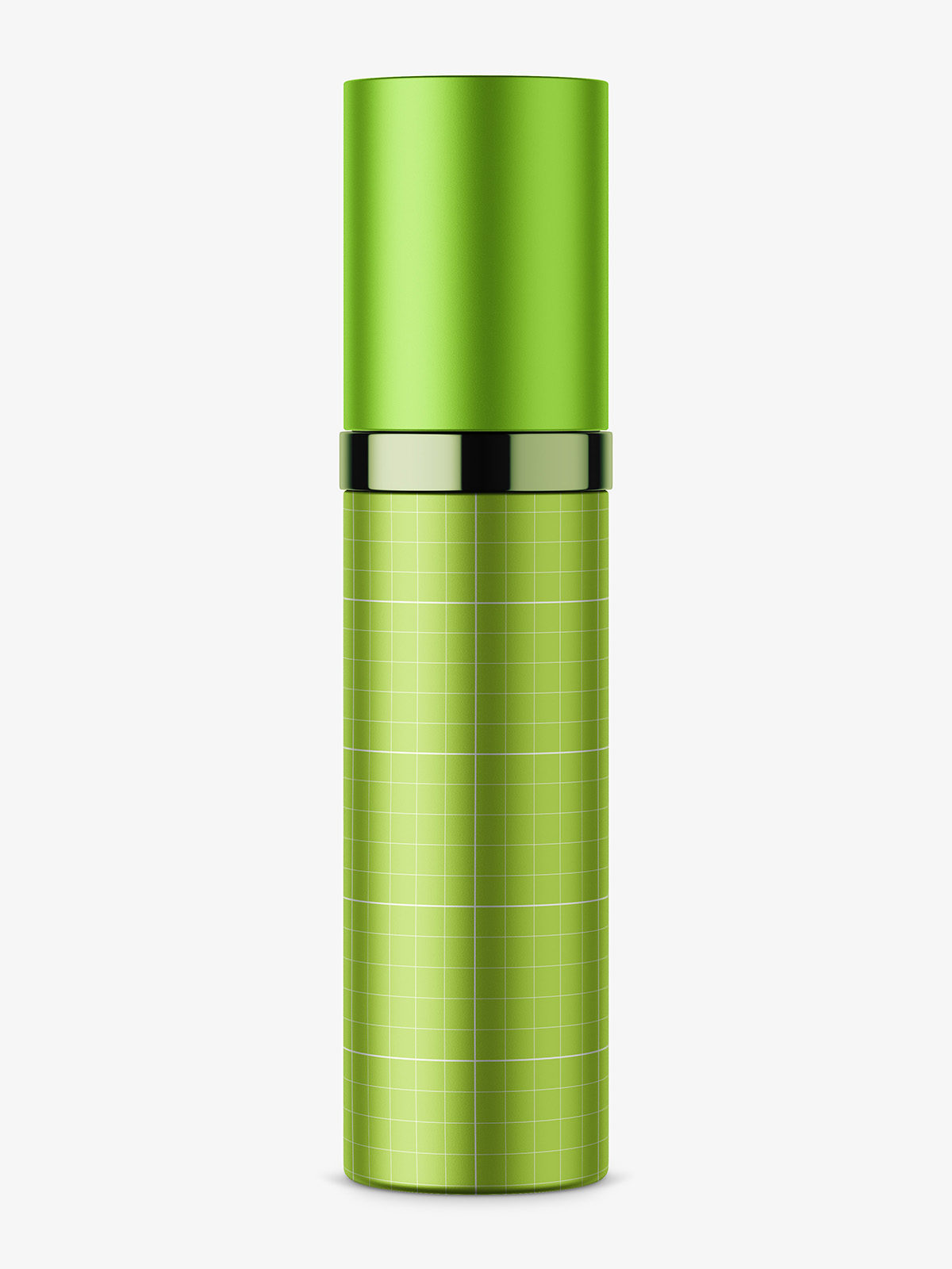 Metallic atomizer bottle mockup