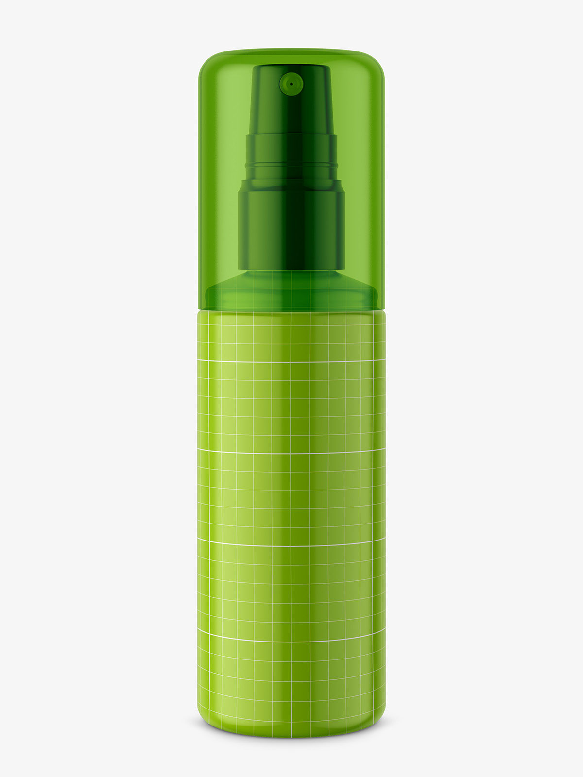 Bottle with atomizer mockup / glossy